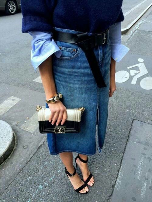 1877cd93fa So chic. So chic Denim Pencil Skirt ...
