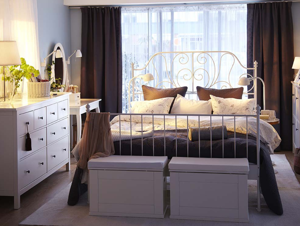 Moving In Ikea Bedroom Design White Metal Bed Bedroom Interior