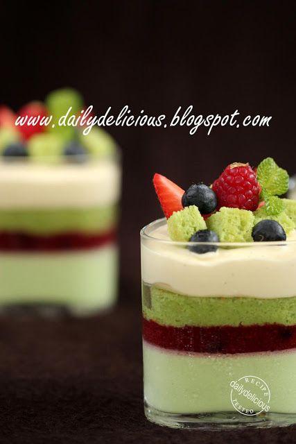 Sentimental: Berry and pistachio verrines