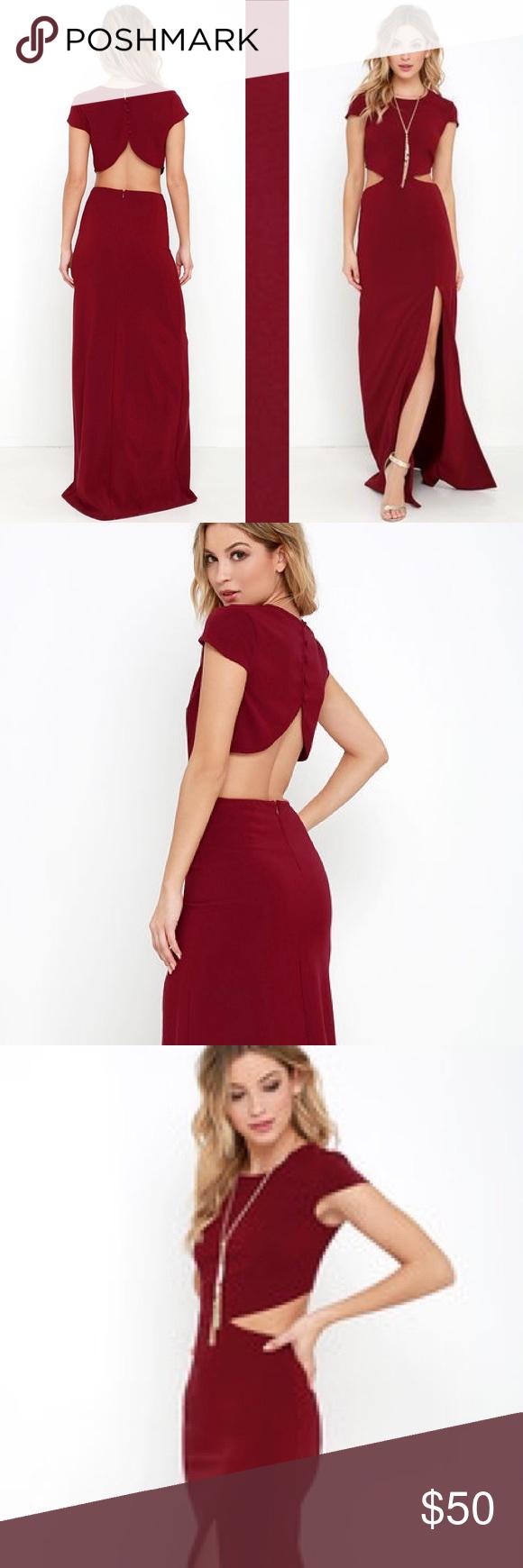 Wine Red \'Conversation Piece\' Lulu\'s Dress