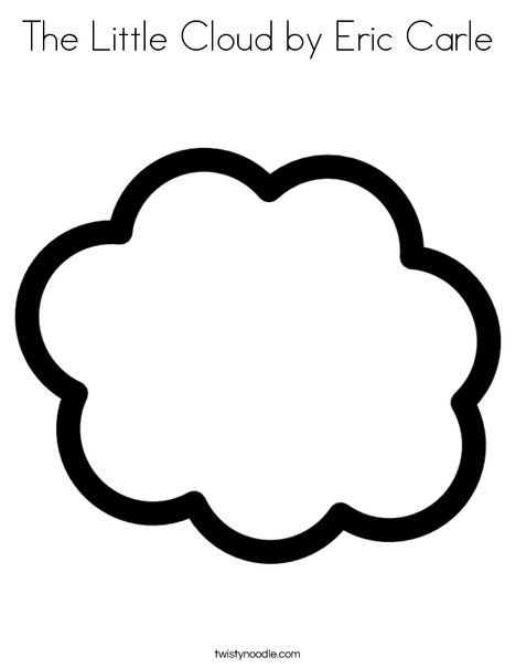 The Little Cloud by Eric Carle Coloring Page - Twisty Noodle | Eric ...