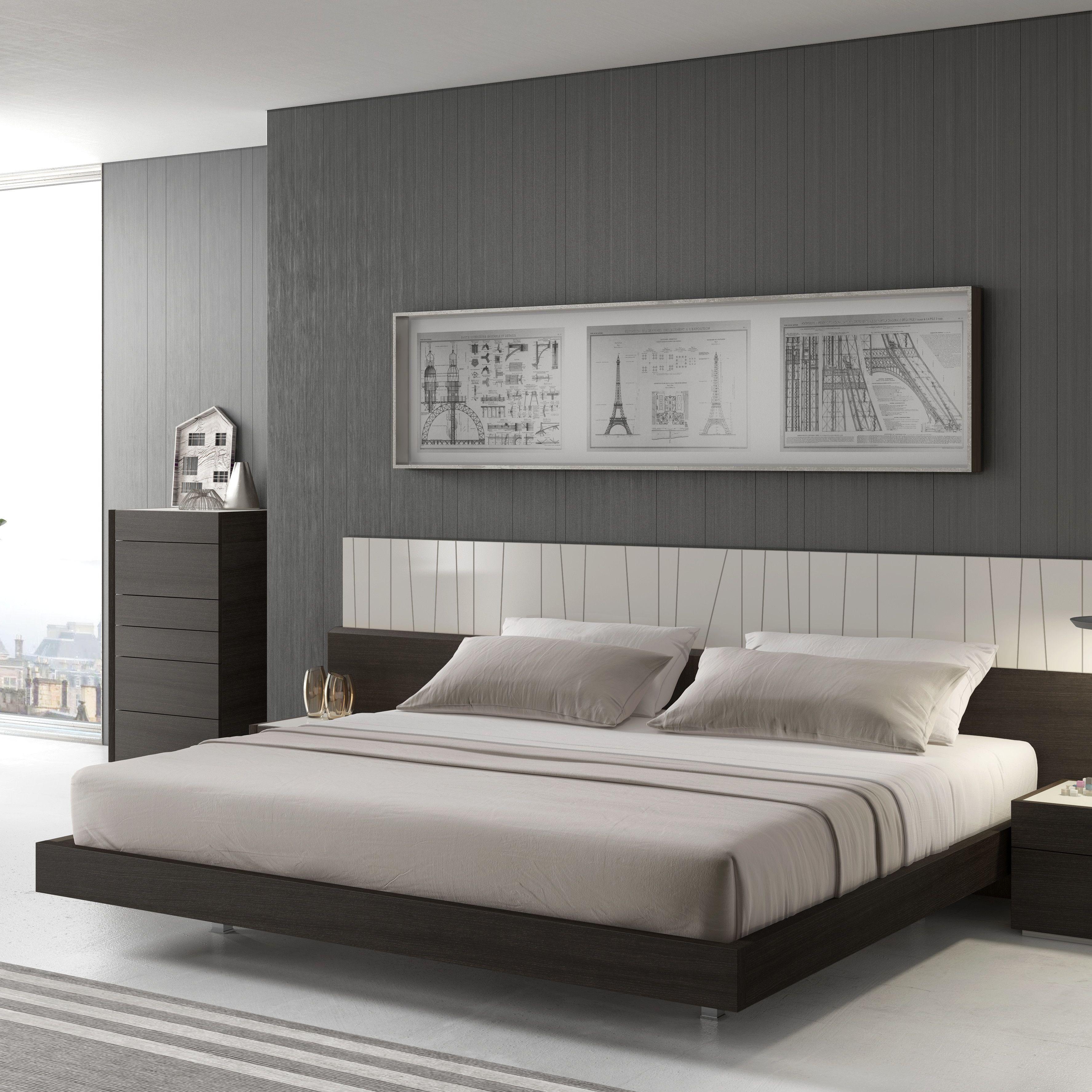 Low Bed J&M Furniture Porto Panel Bed master bedroom