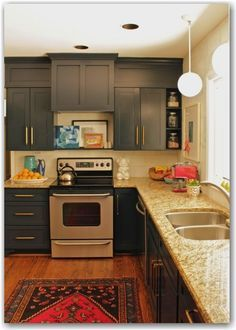 Ugly Soffits Over Cabinets Paint Same Color As To Make Them Look Taller Love