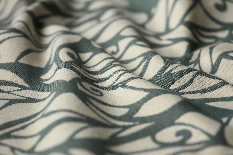 Genesis Sea Rocks  55% ecru Egyptian cotton, 41% slate gray combed Egyptian cotton, 4% white kapok