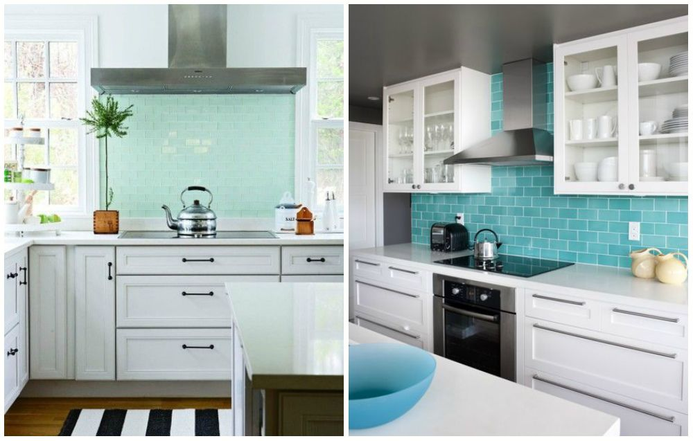 Modern Interiors With Turquoise Color Turquoise Kitchen