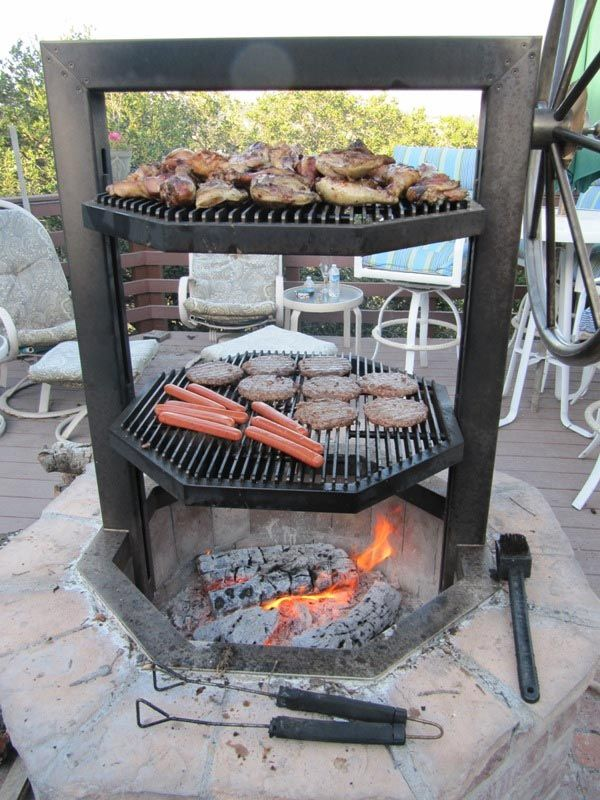 Homemade Brick Bbq Grill Plans Outdoor Kitchen Fire Pit Grill