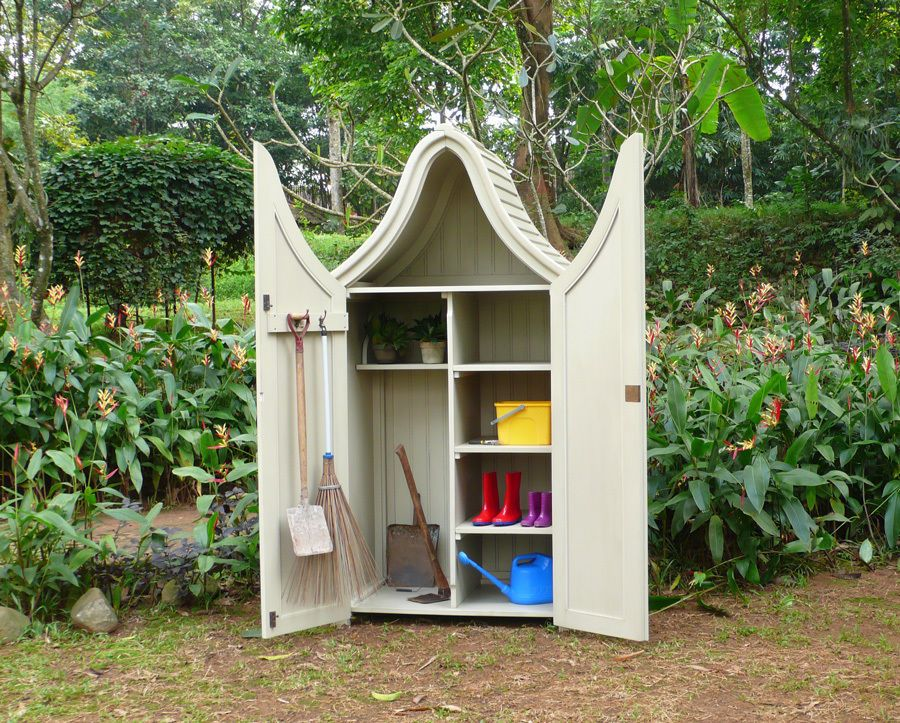 Mahagoni Gerätehaus Piccolo Geräteschuppen Gartenschrank
