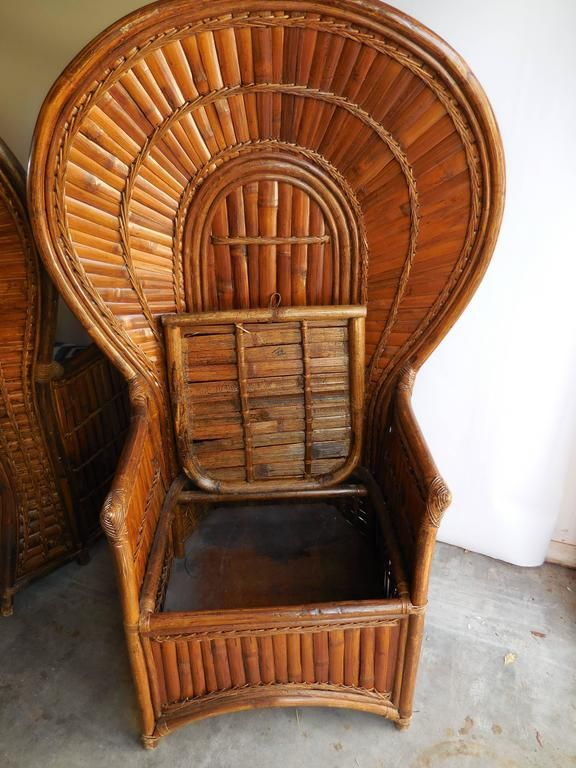 Chair Antique Chairs Pea, Vintage Bamboo Furniture