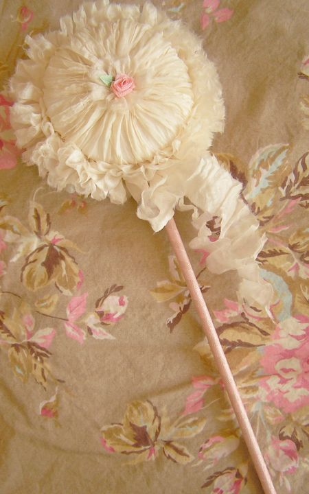 posie pockets powder puffs beautiful things pinterest powder puff shabby and wand. Black Bedroom Furniture Sets. Home Design Ideas
