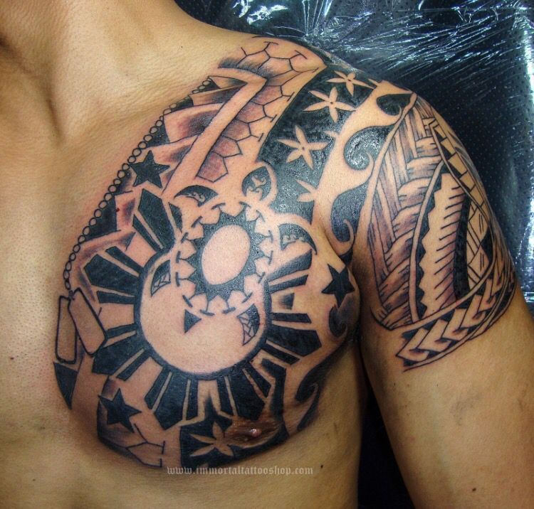 Island ink. Filipino sun w/ turtle filipinotattoossun