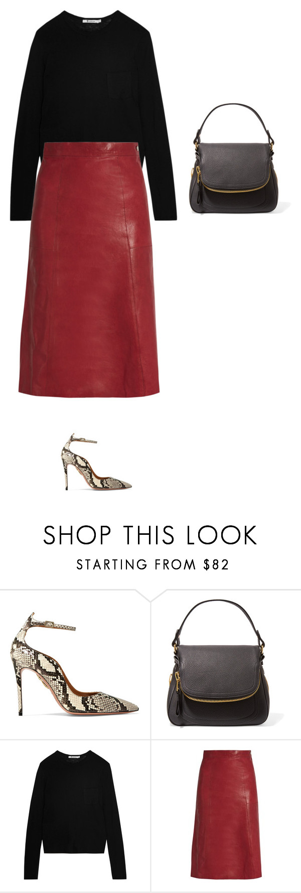 """Untitled #968"" by amyjonez on Polyvore featuring Aquazzura, Tom Ford, T By Alexander Wang and Vanessa Bruno"