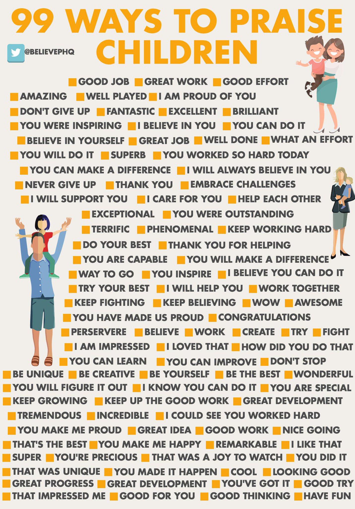 99 Ways To Praise Children