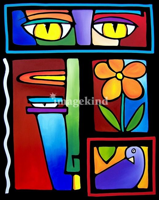 Stages By Tom Fedro Pop Art Face Art Painting Art