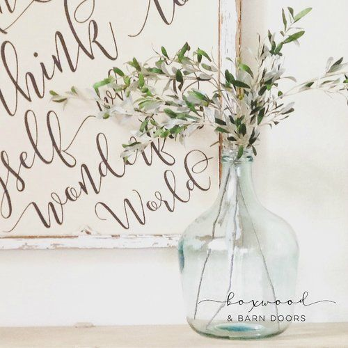 Where To Buy Olive Branches And Glass Glass Vases Like Joanna Gaines