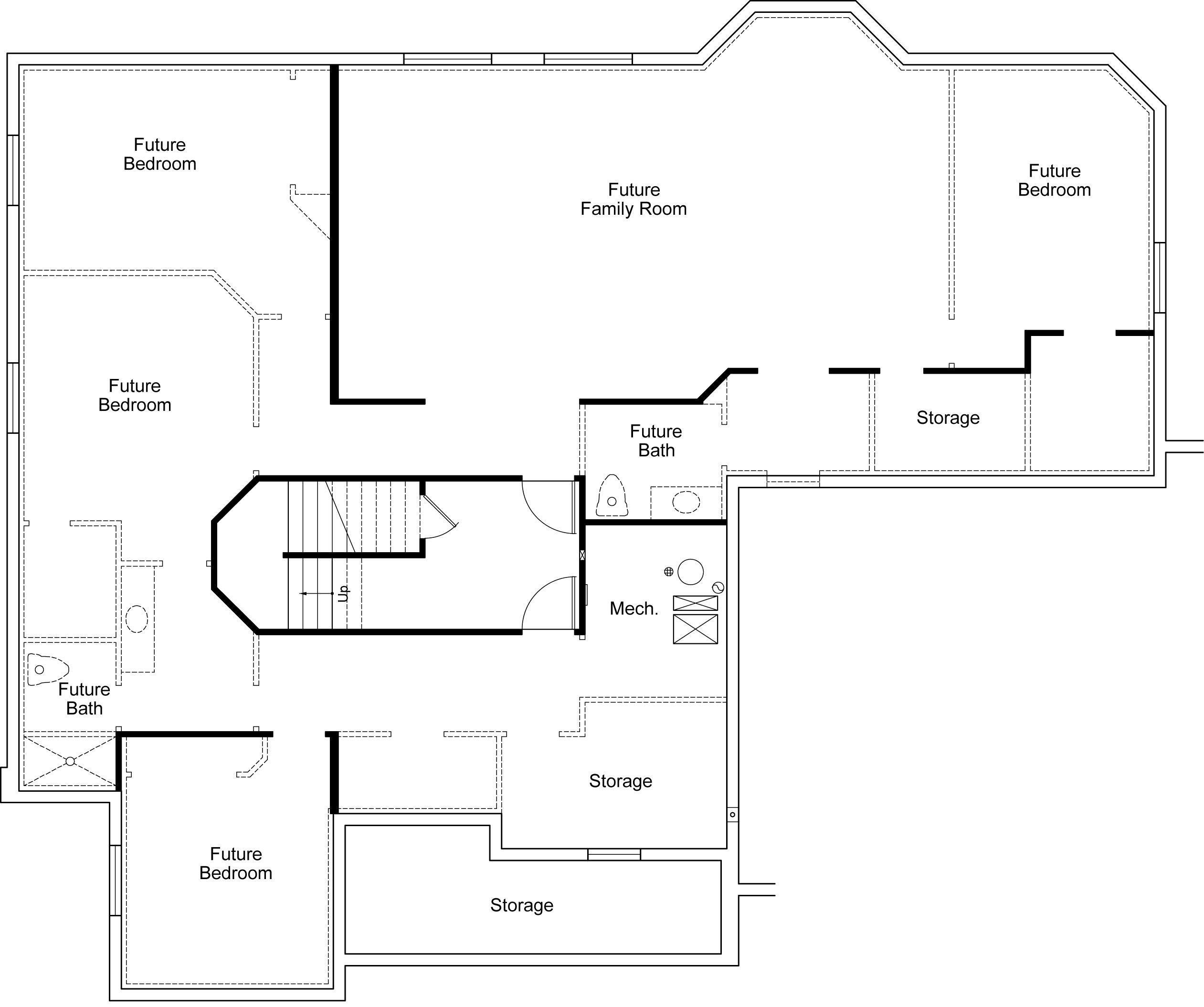 Bella Vista Ivory Homes Floor Plan Basement Level Home Design