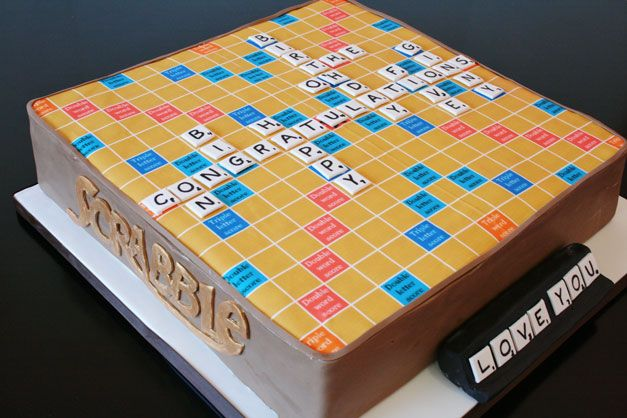 50th Birthday Cakes New Jersey Scrabble Custom Cakes My mom would