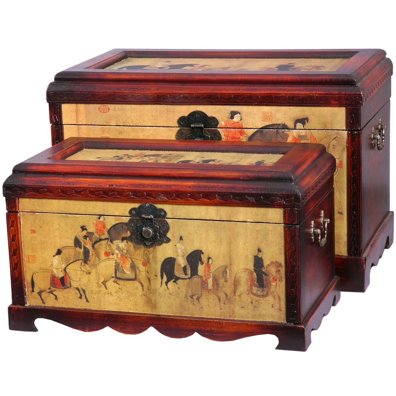 Ordinaire Galloping Horses Storage Boxes (Set Of Two)   OrientalFurniture.com