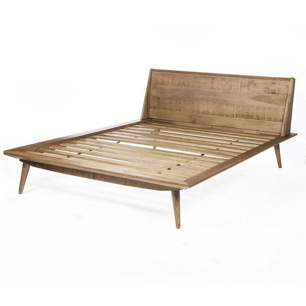 Giorgio Wooden Queen Size Bed In Solid, Landen Queen Upholstered Platform Bed