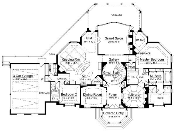 Avanleigh Estate 6009 4 Bedrooms And 4 Baths The House Designers House Plans With Photos Floor Plans House Plans