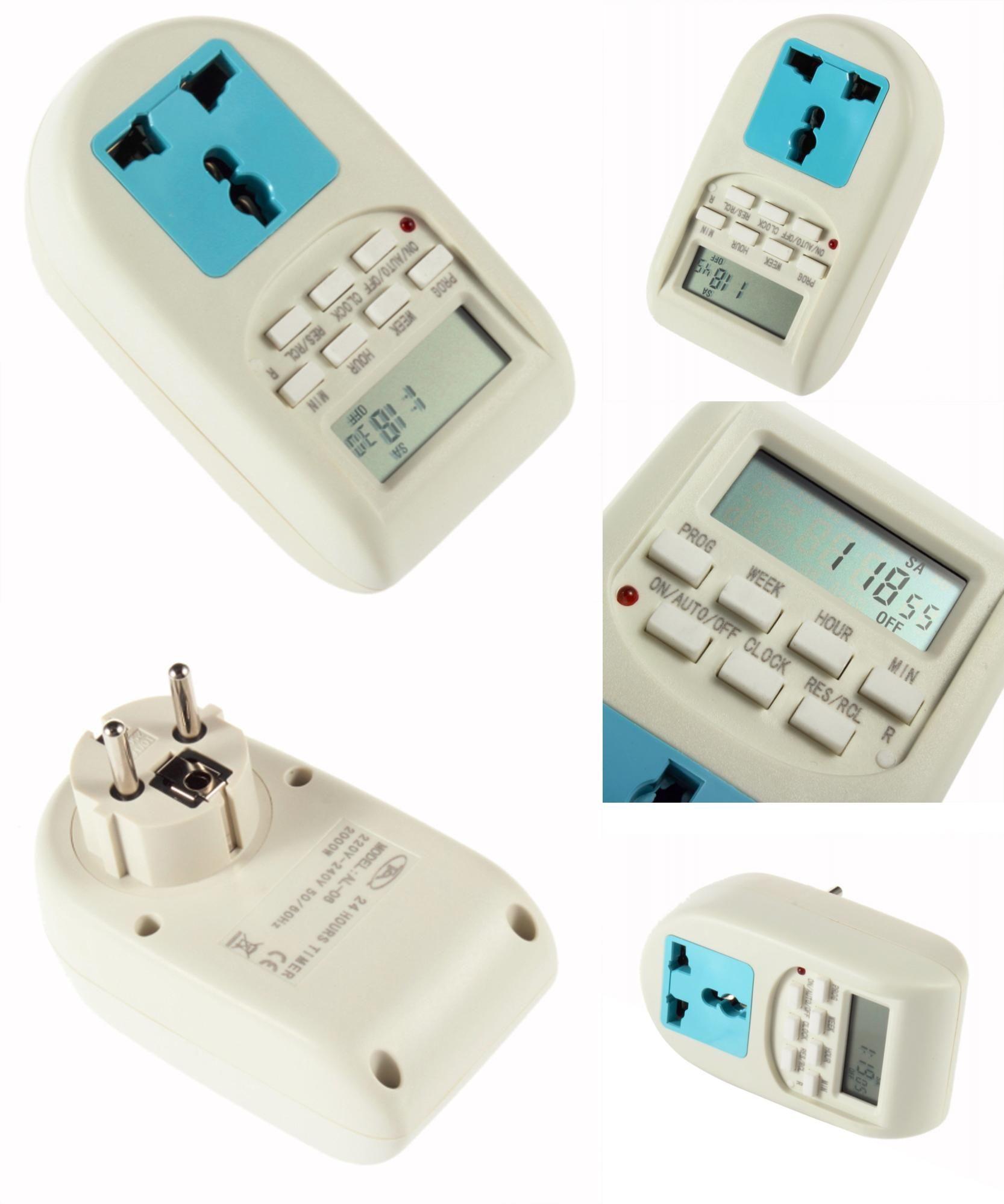 [Visit to Buy] Hot New Digital Timer EU Plug Energy Saving Timer Programmable Electronic Timer Socket Hot Selling Wholesale Hot Promotion #Advertisement