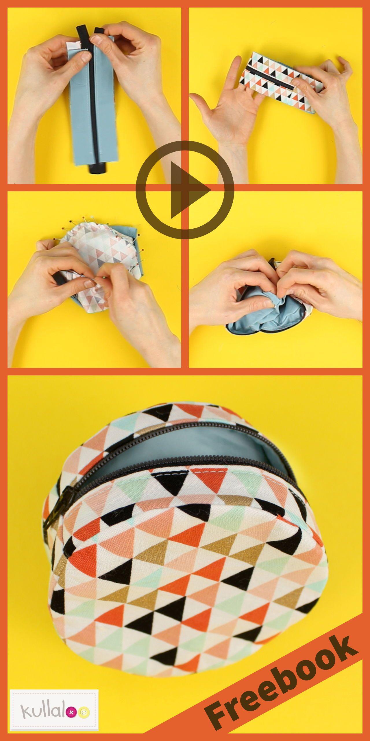 Kleine Täschchen mit Reißverschluss sind einfach super praktisch und du kannst nie