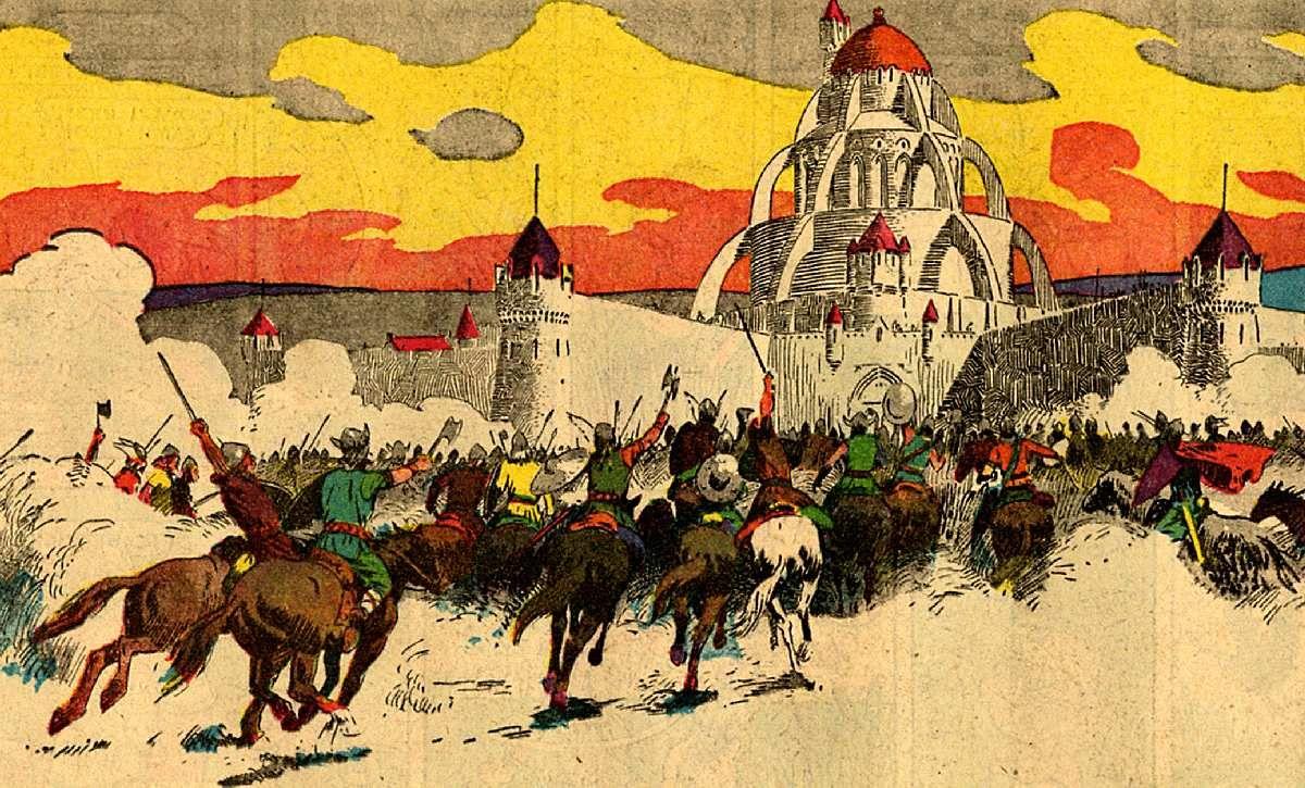 El Príncipe Valiente en los días del Rey Arturo por Harold R. Foster / http://princevaliant.marianobayona.com/selecciones1953.htm