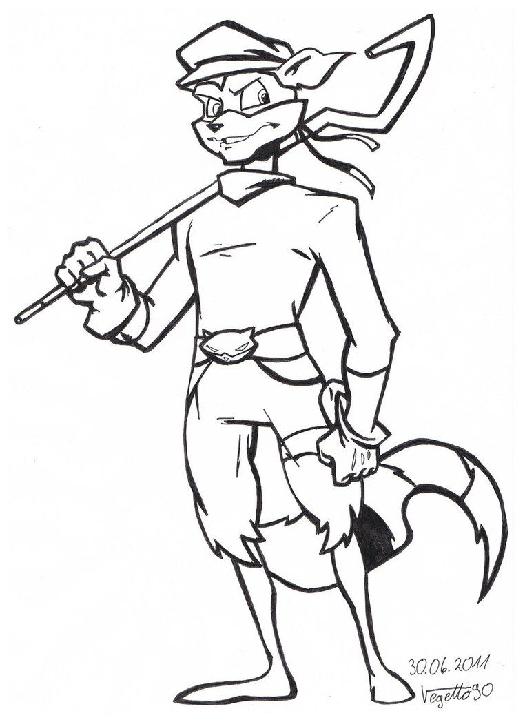 Coloring pages kiss - Sly 3 Scenes Sly Cooper Coloring Pages