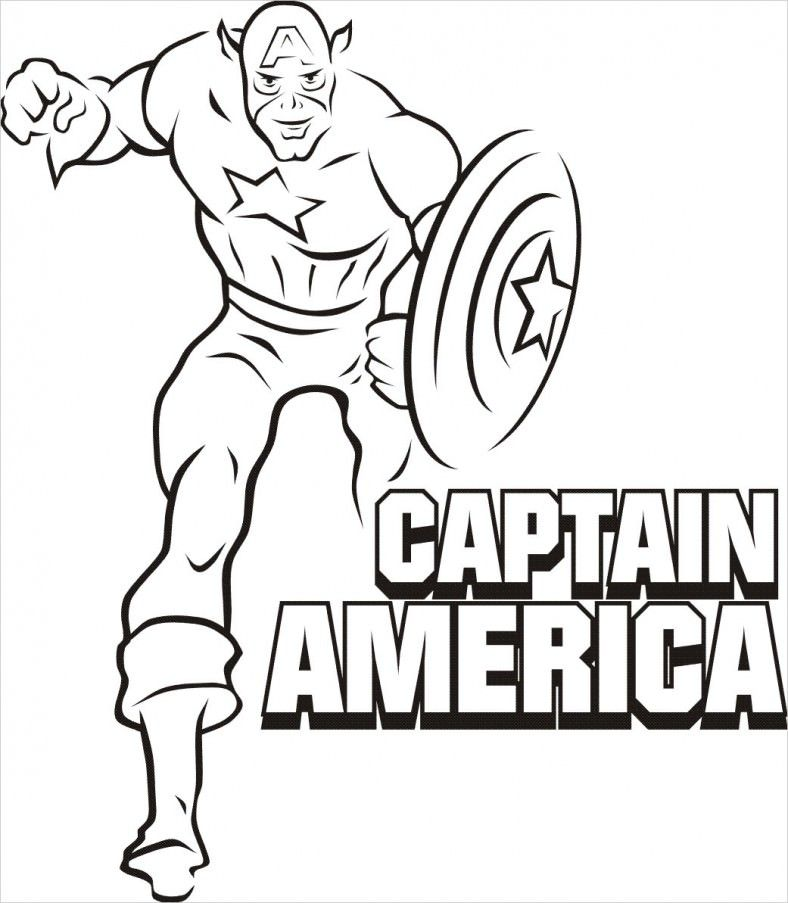 Superhero Coloring Pages Coloring Pages Superhero Coloring Superhero Coloring Pages Captain America Coloring Pages