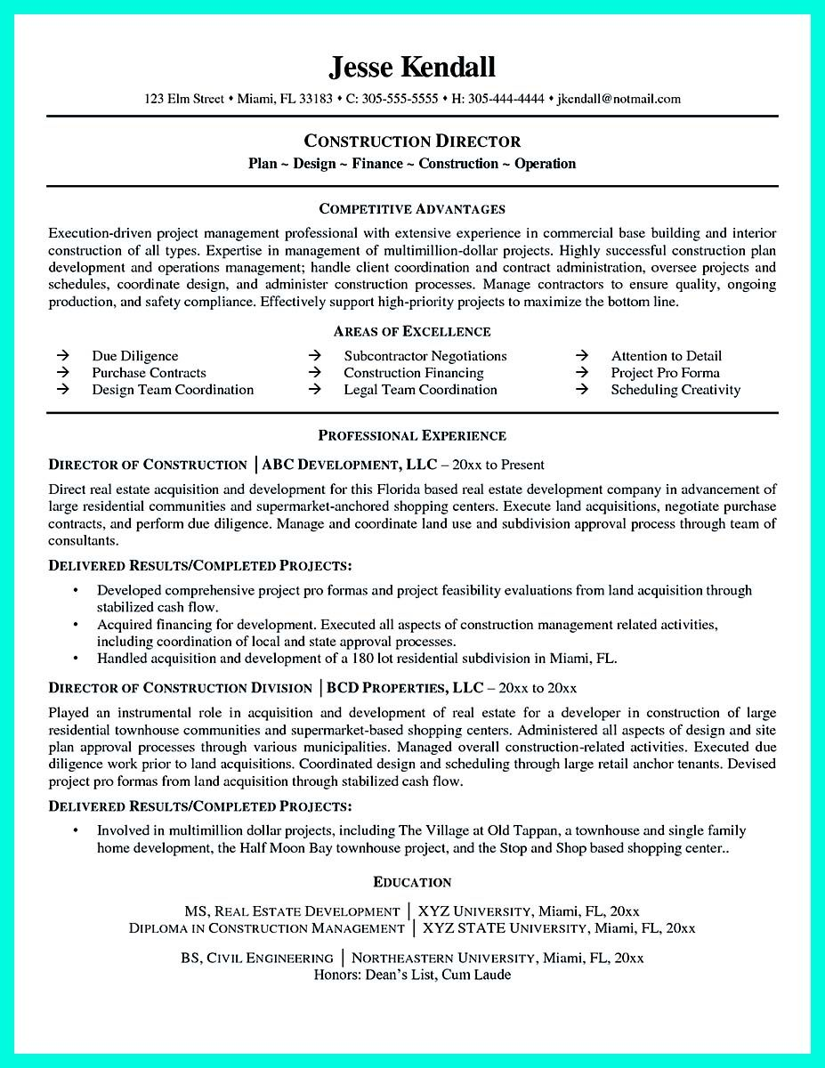 cool Construction Worker Resume Example to Get You Noticed