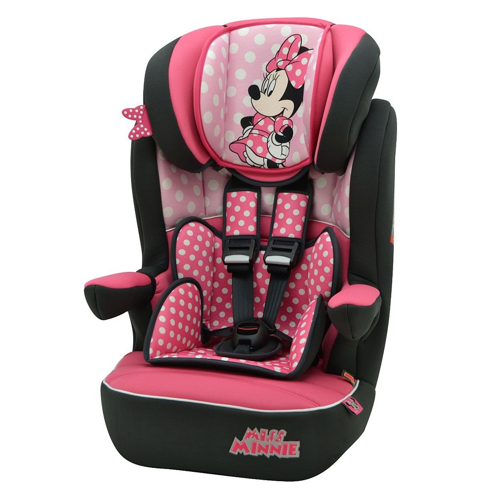 Disney Minnie Mouse Pink Dots Imax Car Seat Group 1 2 3