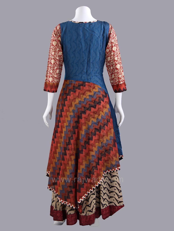 Multicolored Double Layered Long Kurti Indian Pinterest Kurti