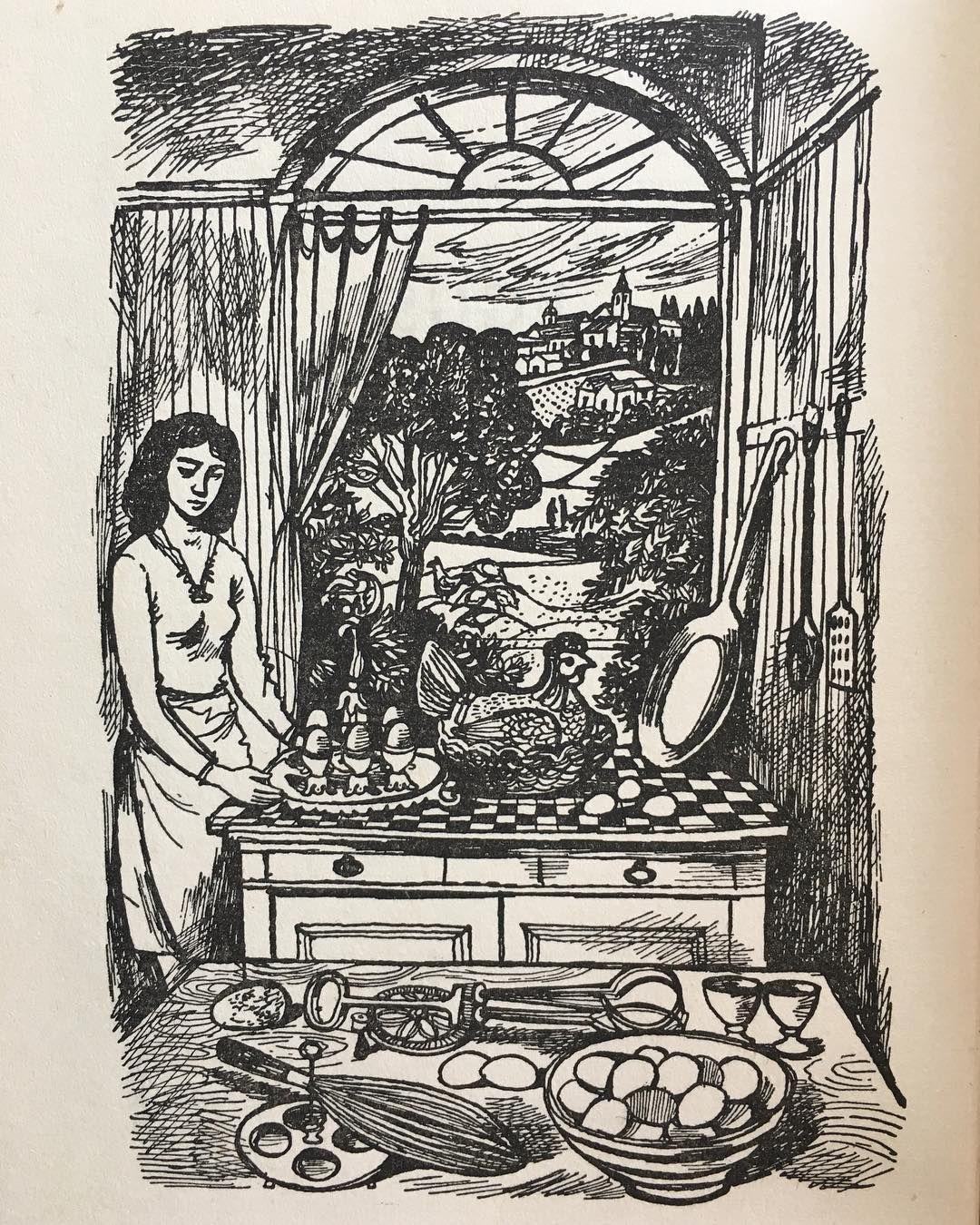 John Minton Illustration From Elizabeth David's 'French