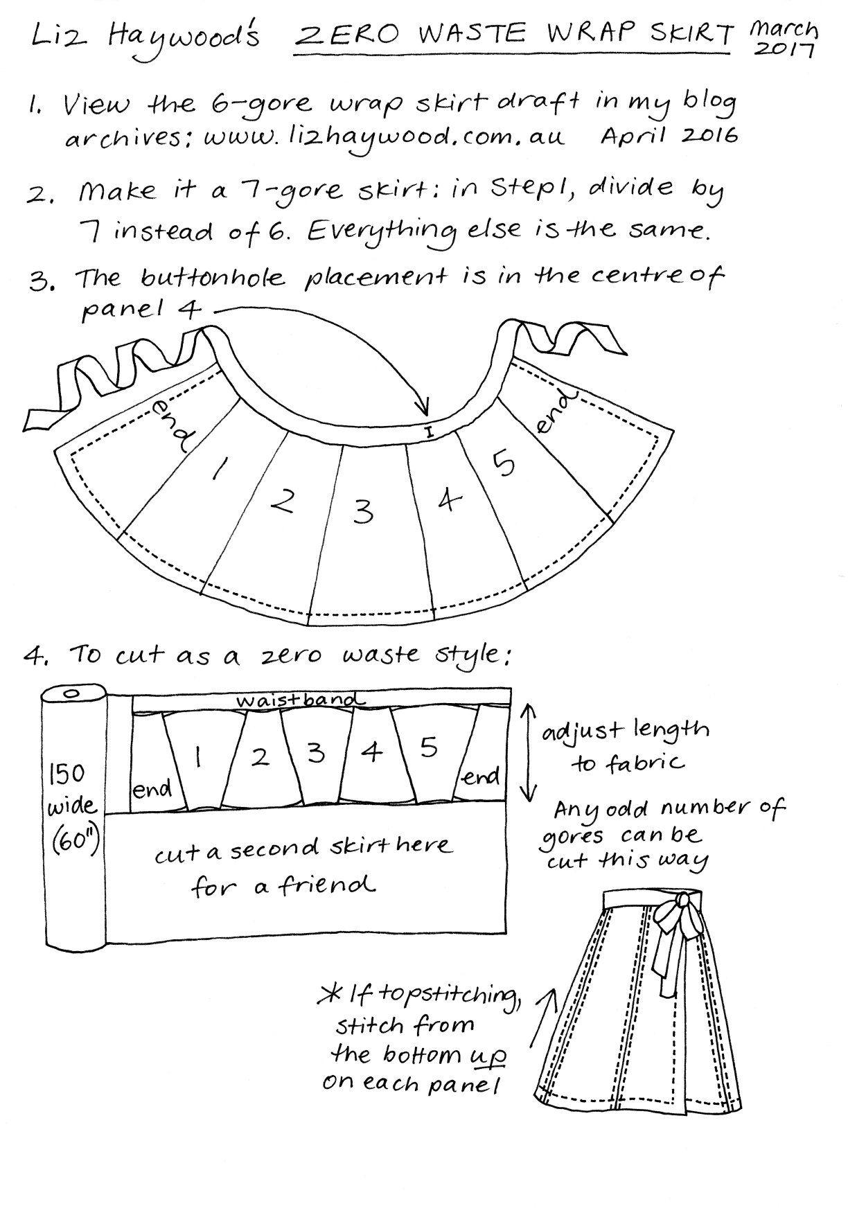 Zero Waste wrap skirt   costura   Pinterest   Costura, Falda y ...