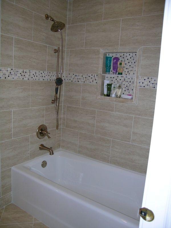 Do Not Like The Dark Contrast In Tile Trim Bathroom Redo Bathrooms Remodel Bathroom
