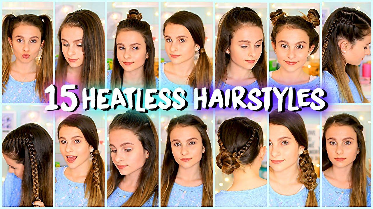 15 Heatless Hairstyles Easy And Quick Lovevie Hair Diys