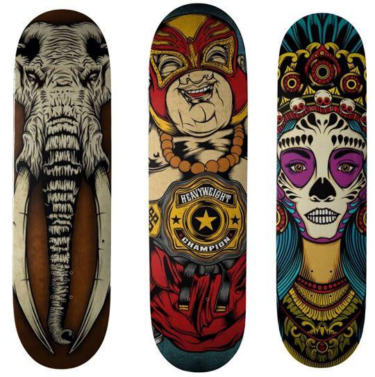 9a3c72d66f2 Desenhos no Shape do Skate - 03