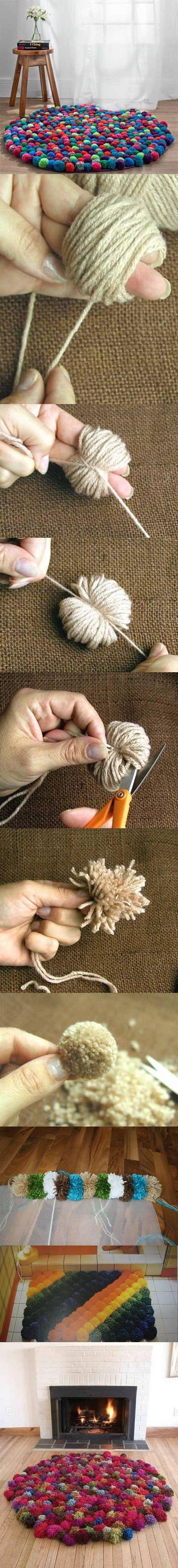 alfombras de ponpon