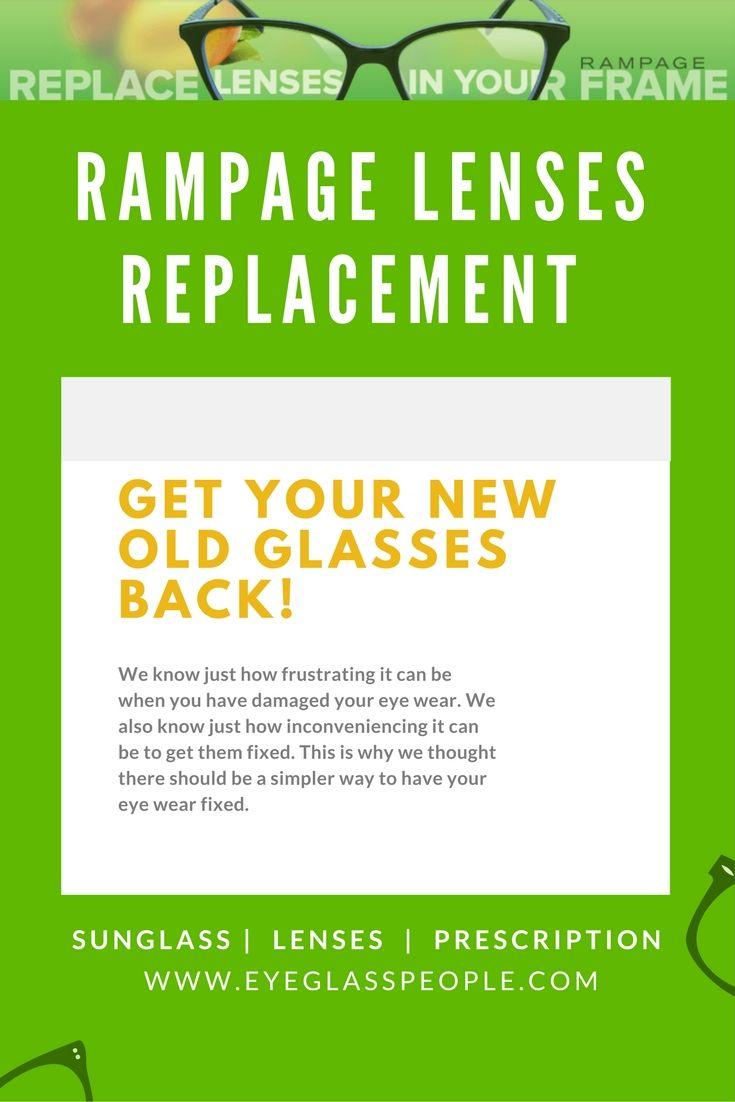 Have you lost a lens from your Rampage eye wear? Here at ...