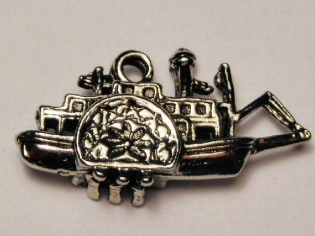 Riverboat Genuine American Pewter Charm
