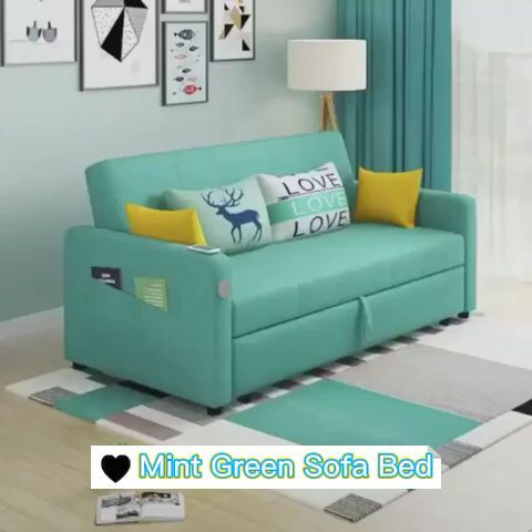 Mint green Sofa Bed