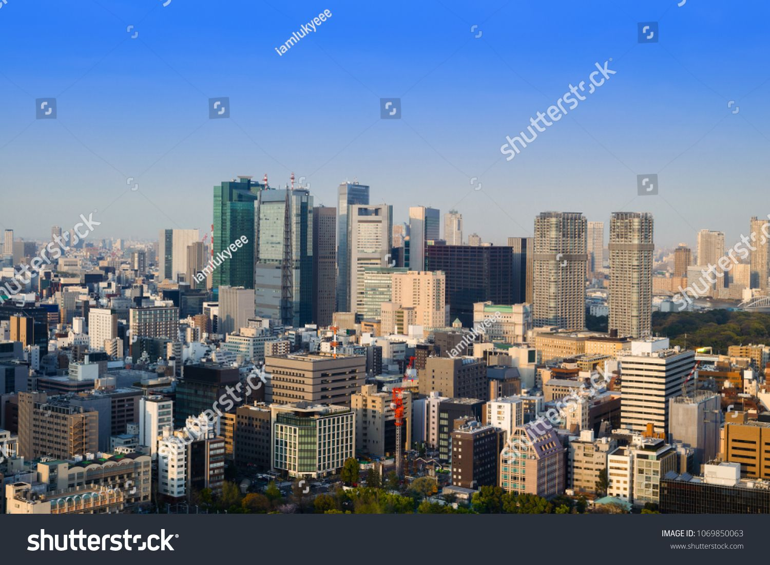 Cityscape Of Tokyo City Skyline In Aerial View With Skyscraper Modern Business Office Building With Blue Sky Background In Tok Tokyo City Skyline City Skyline
