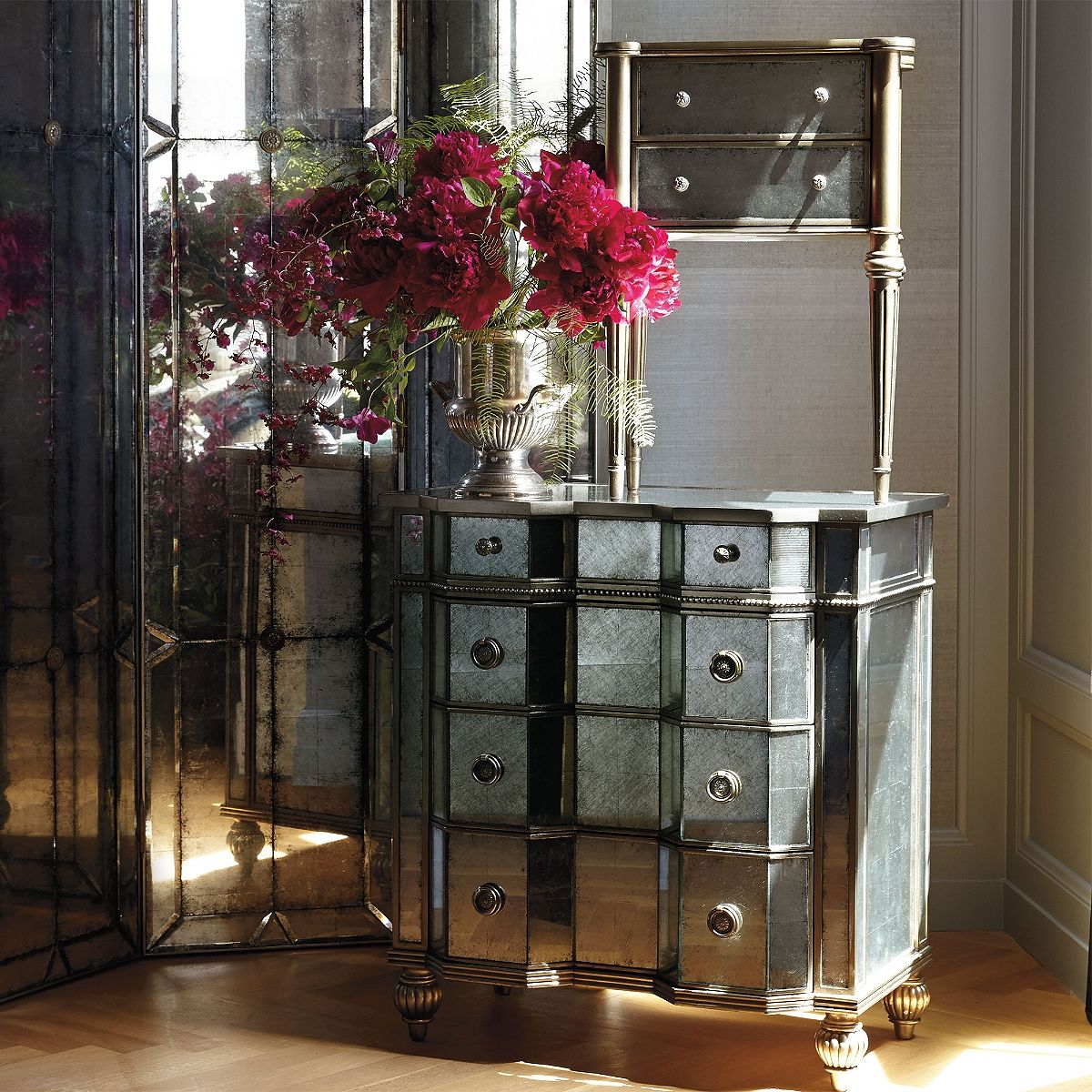 Best Adrian Eglomise Bedside Chest Frontgate Bedside Chest 400 x 300