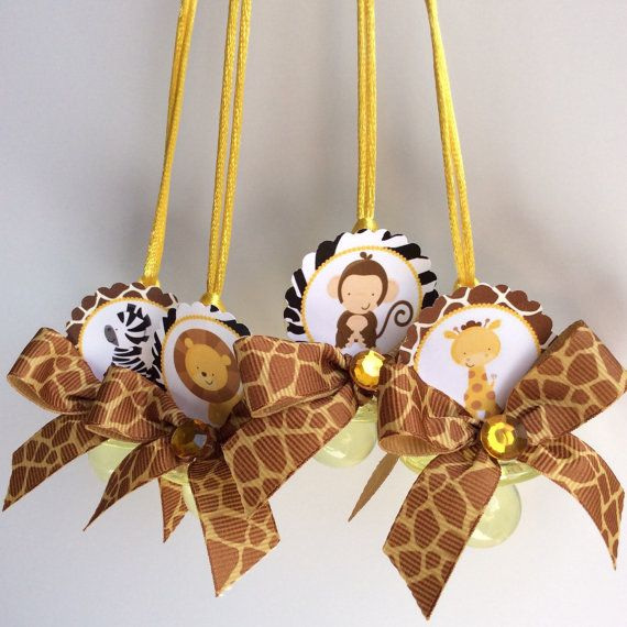 Safari Baby Shower Corsage: Safari Pacifiers Game Safari Baby Shower By