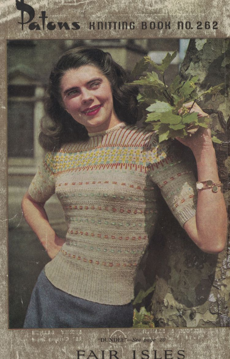 The vintage pattern files free 1940s knitting pattern womens the vintage pattern files free 1940s knitting pattern womens fair isle sweaters patons no bankloansurffo Gallery
