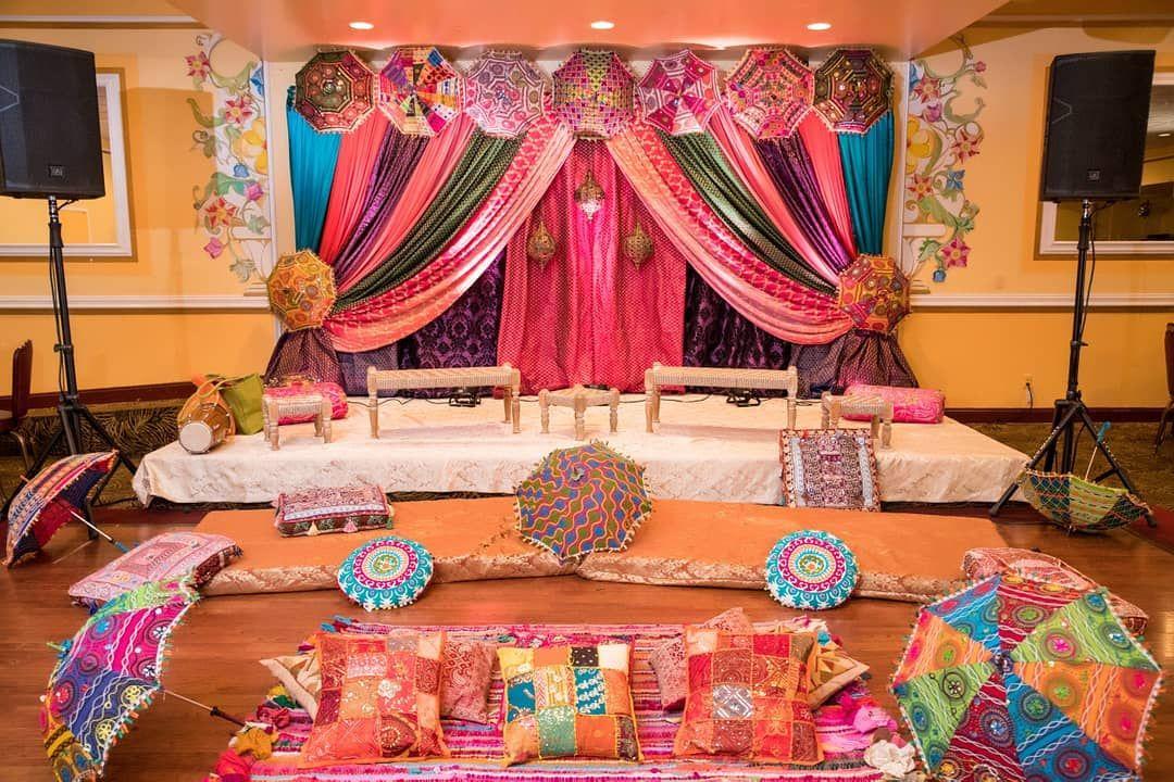 Mehndi Sangeet Jago Decorations Indian Inspired Decorations