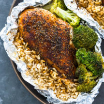 Photo of Foil Pack Chicken Rice and Broccoli