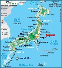Map of Japan to Print