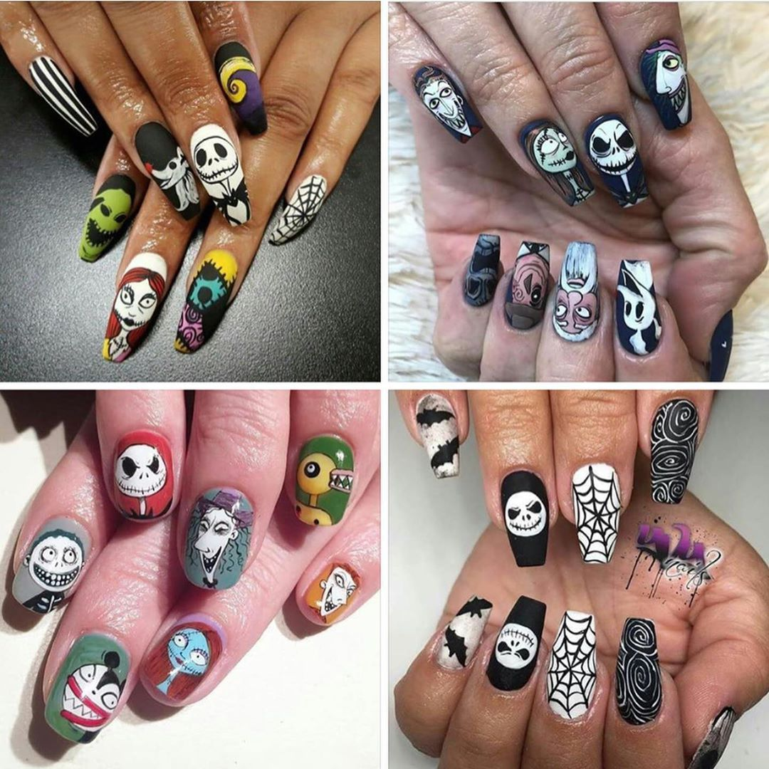 Nightmare Before Christmas Nails Nightmare Before Christmas Nails Christmas Nails Disney Christmas Nails