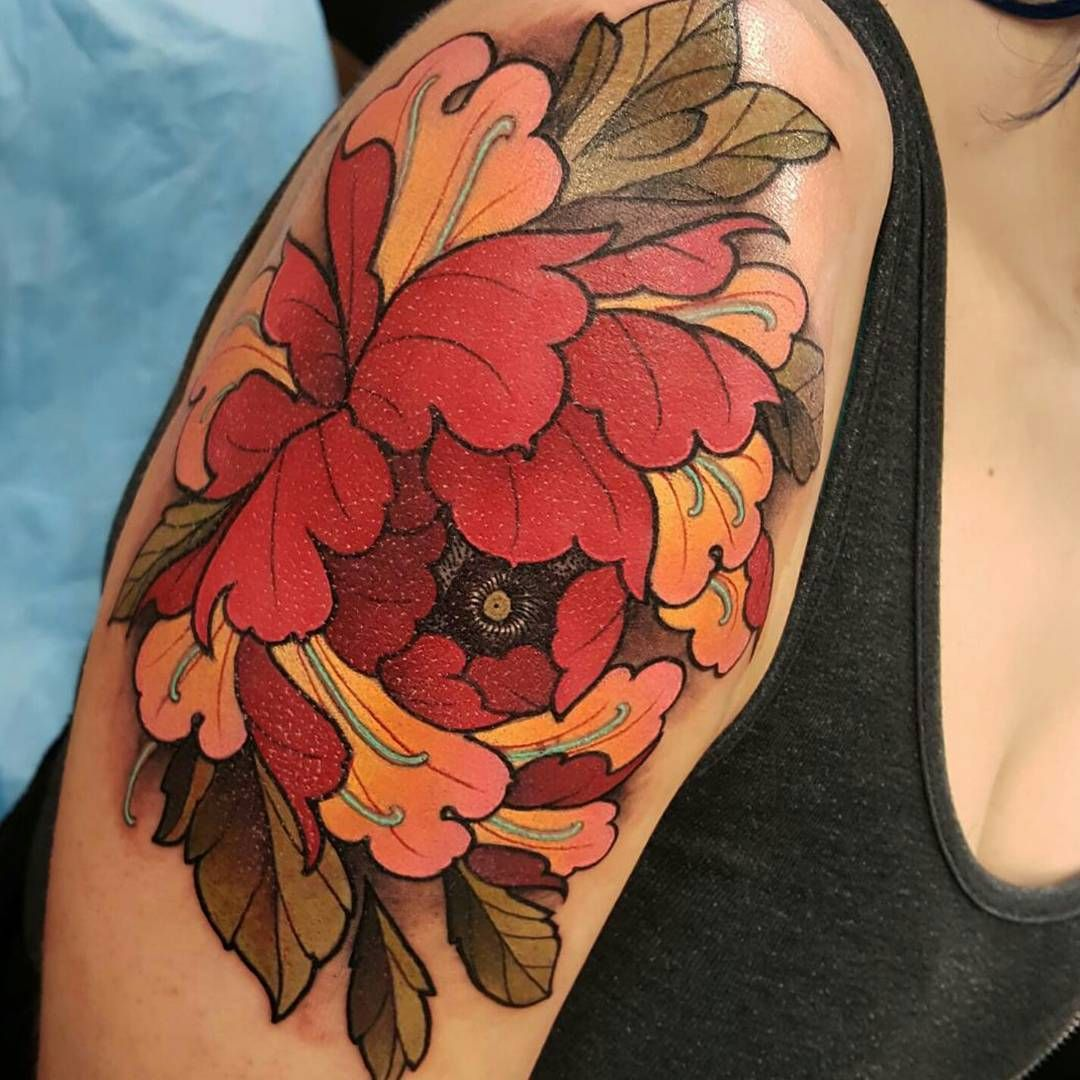 43 Japanese Peony Tattoos Collection: Pin By Katharina Franzen On New Collection