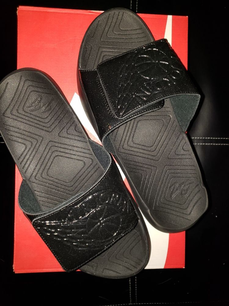 1257daf635dcbb Brand New Nike Air Jordan Hydro 7 VII Slides BLACKED OUT AA2517-010 Men s SZ